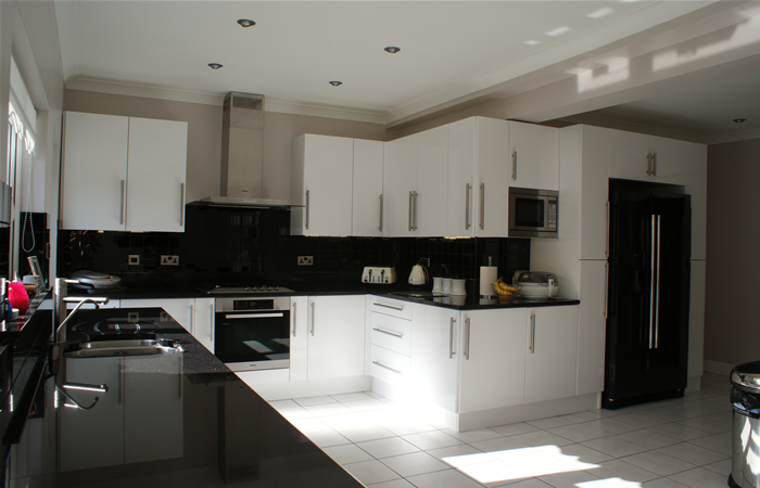 white gloss kitchens black worktops interesting white kitchen units black worktop kashmir gold 740